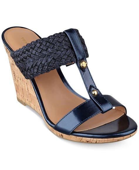 wedge sandals blue hilfiger s eleona wedge sandals in blue lyst