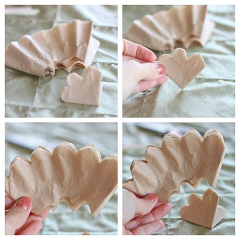 Coffee Filter Paper Crafts - coffee filter roses diy next while holding the filters