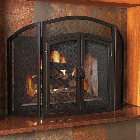 fireplace screens wrought iron 3 panel wrought iron