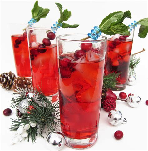 christmas drink cranberry gin fizz and merry christmas once upon a