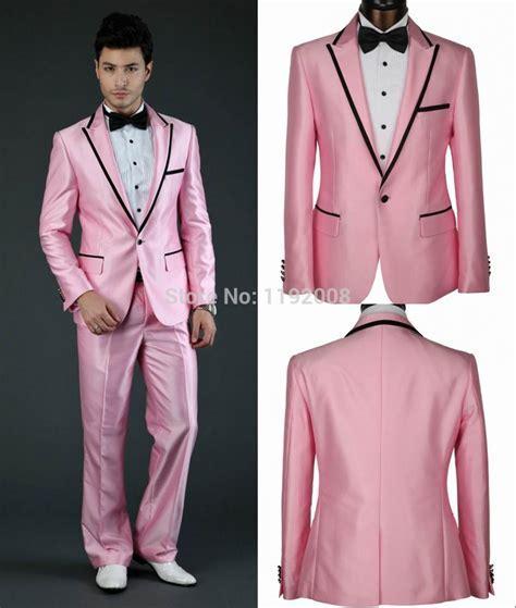 Wholesale Pink Wedding Suit For Men 2015 Custom Made Groom