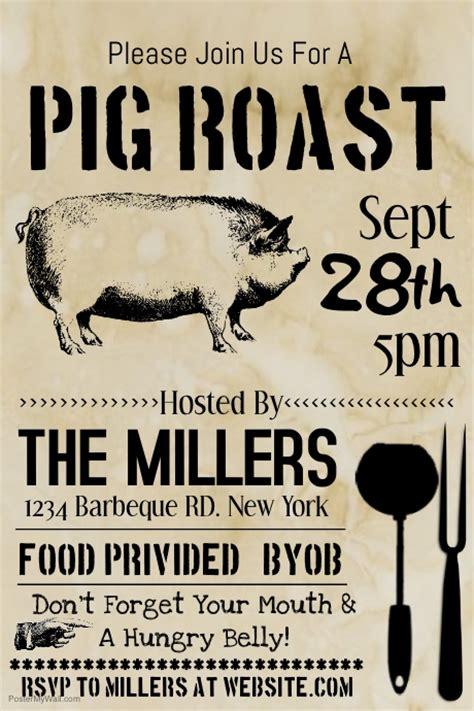 Hog Roast Flyer Template Pig Roast Template Postermywall