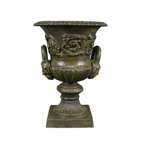 vase m 233 dicis en fonte de fer avec des anses vasque de jardin