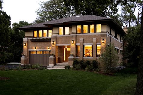 Frank Lloyd Wright Inspired Homes by New Prairie Style House West Studio Frank Lloyd Wright