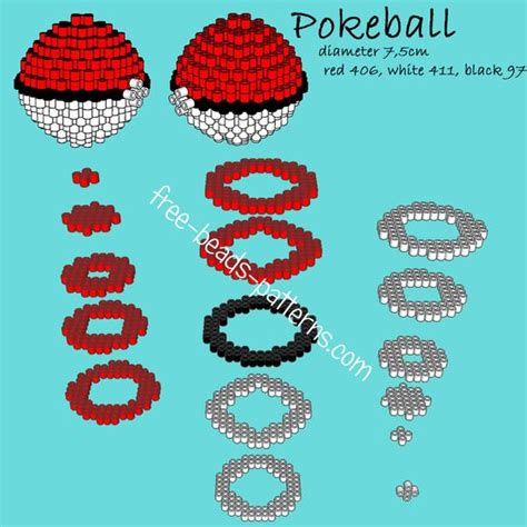 3d perler bead patterns pokeball 3d perler hama playbox pyssla pattern