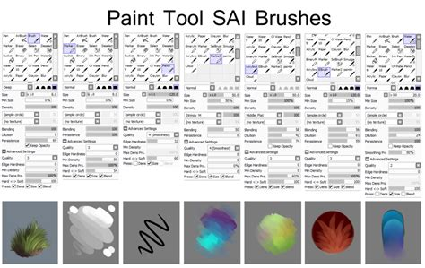 paint tool sai custom brush tutorial paint tool sai brushes
