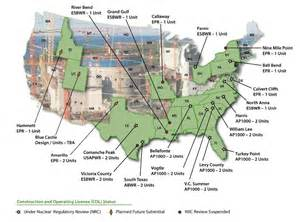 map of us nuclear plants nuclear power plants in usa map