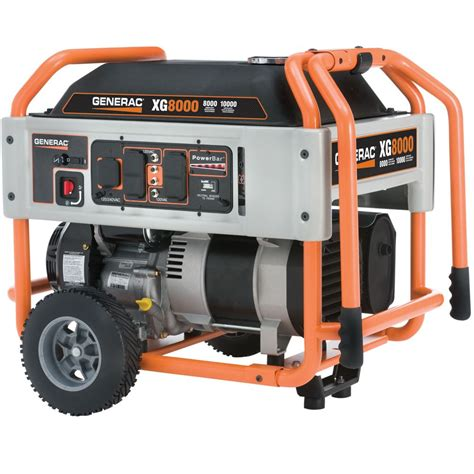generac xg 8000 watt electric start portable generator