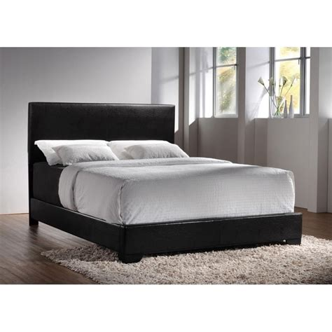 Black California King Platform Bed Coaster Upholstered Platform California King Bed In Black 300260kw