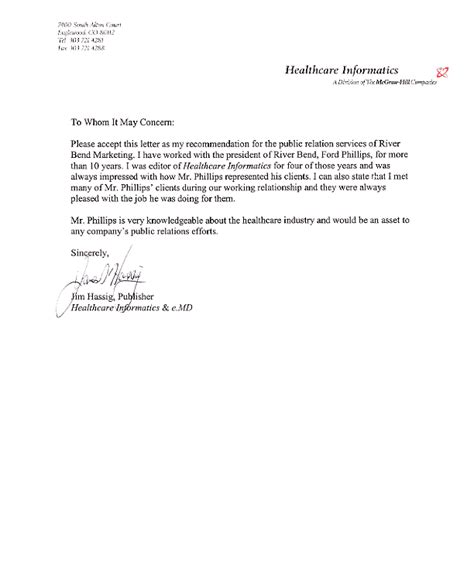 Recommendation Letter Healthcare Letter Of Recommendation Healthcare Recommendation Letter