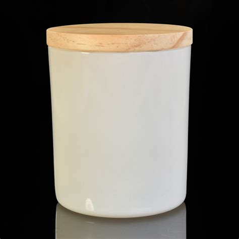 Stock white painting glass candle holder with wooden lid ... Empty Box Weight