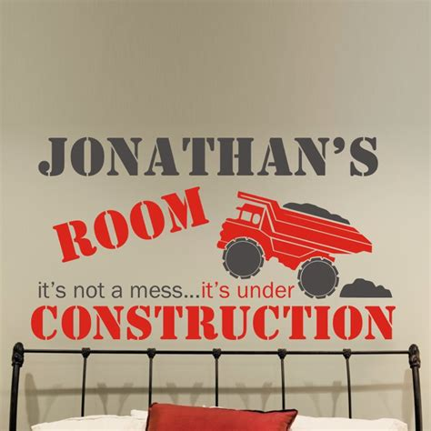 construction wall stickers construction wall decal by alphabet garden designs