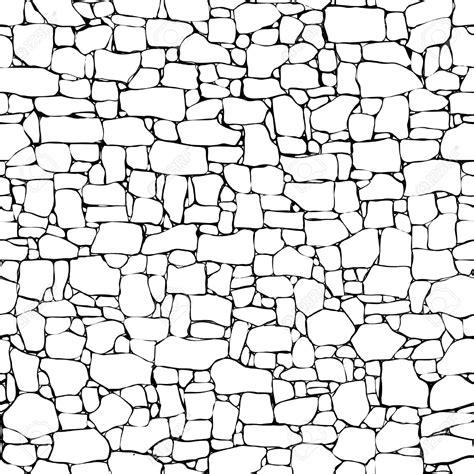 brick pattern line drawing drawn stone brick pencil and in color drawn stone brick