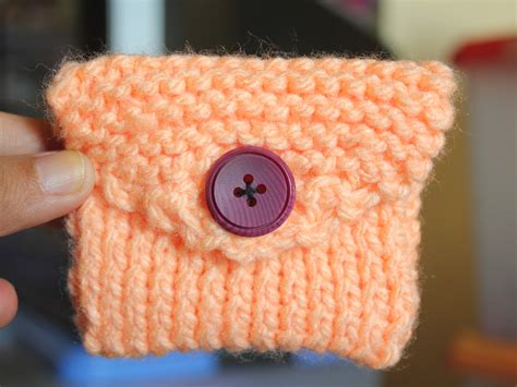 knitting purses for beginners how to knit a coin purse with pictures wikihow