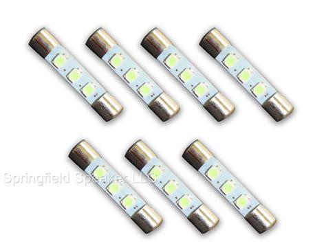 7 Warm White 8v Led L Fuse Type Bulbs For Sansui 8080 Lights Fuse Bulb