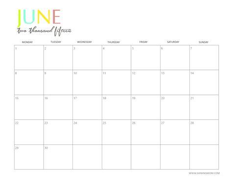 printable monthly planner june 2015 free printable calendar free printable calendar june