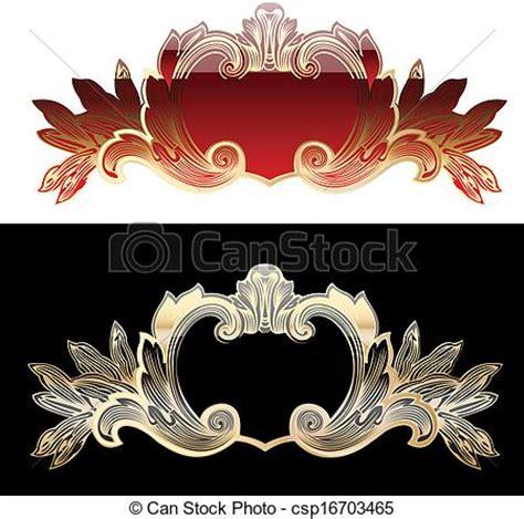 royal design elements vector clip art vector of two red and gold royal design elements