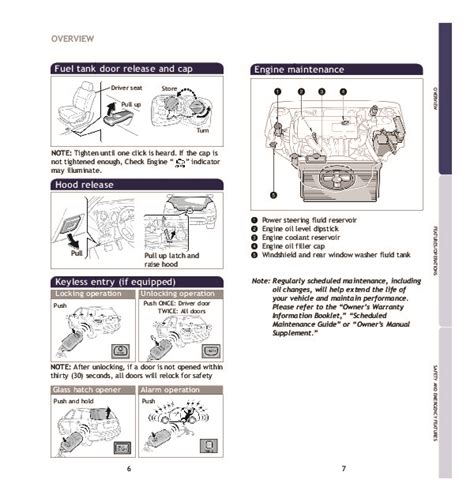 service repair manual free download 2004 toyota matrix parking system 2007 toyota matrix quick reference owners guide