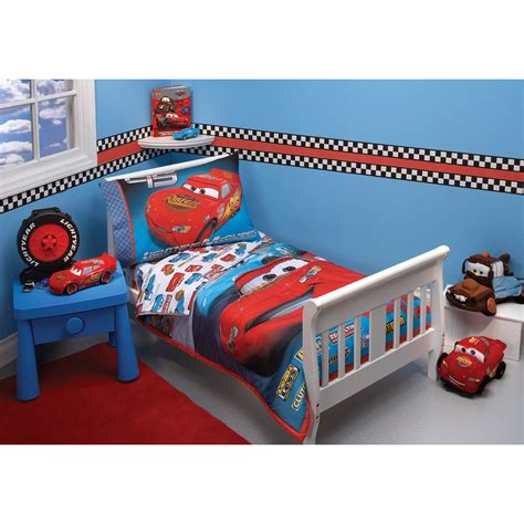 disney pixar cars bedroom furniture disney cars taking the race 4 pc toddler bedding set at