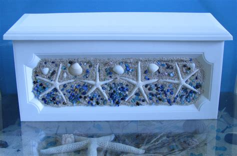 Handcrafted Mailboxes - handcrafted starfish mailbox sand blue by