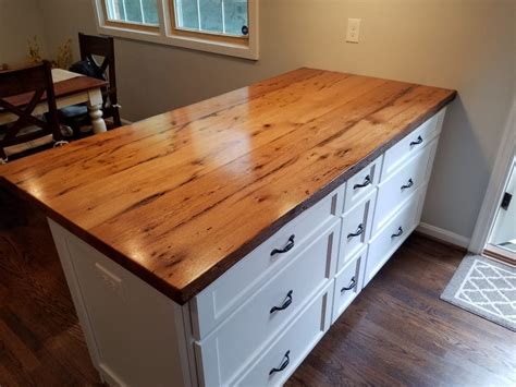 Reclaimed White Oak Peninsula   Maryland Wood Countertops