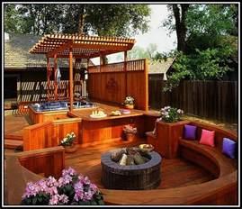 Deck Backyard Ideas Backyard Decks With Tubs Decks Home Decorating