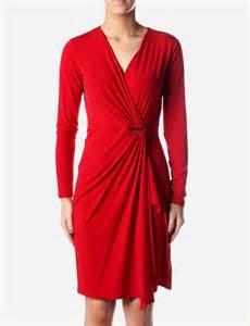 wrap around wrap around women s dress chilli red