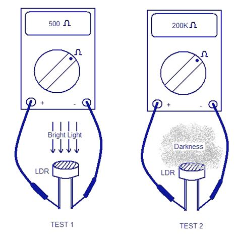 how to test if resistor is working light activated switch circuit working with applications