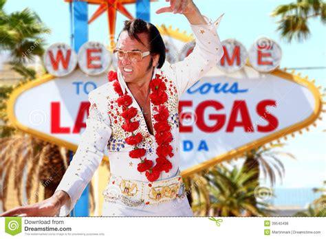 Elvis Look-alike Impersonator And Las Vegas Sign Stock ... Elvis Clipart Graphics Free