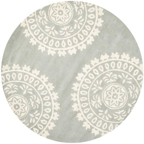 round accent rug safavieh new orleans shag off white 5 ft x 5 ft round