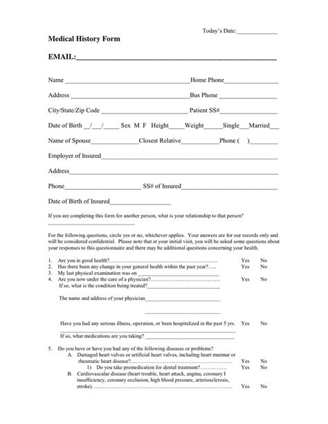 medical clearance form for dental treatment templates