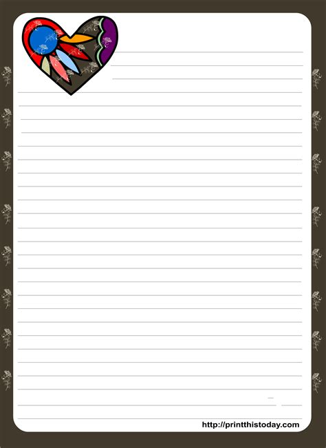 love letter pad stationery
