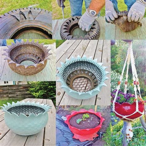 How To Make Tire Planters by Make These Wonderful Tire Planters For Your Garden