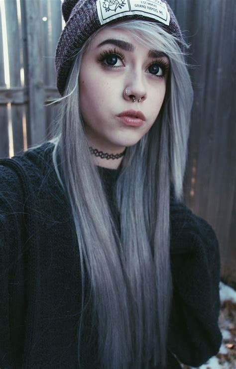 young women with gray hair violet silver hair on young pastel goth hairstyles the haircut web