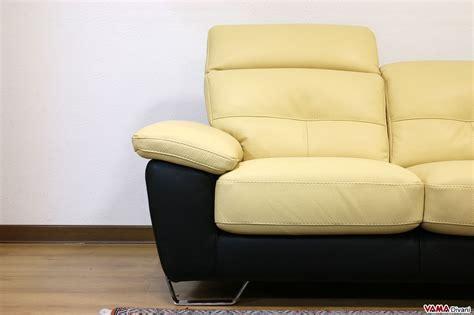 divano due colori divano moderno in pelle 2 e 3 posti con poggiatesta relax