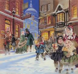 Xmas Duvet Cover Dickensian Christmas Scene Painting By Angus Mcbride