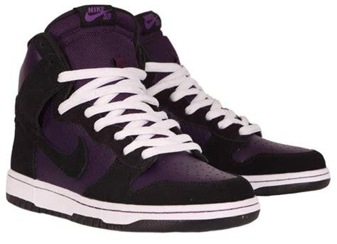 nike sb high new year nike sb dunk high grand purple black freshness mag