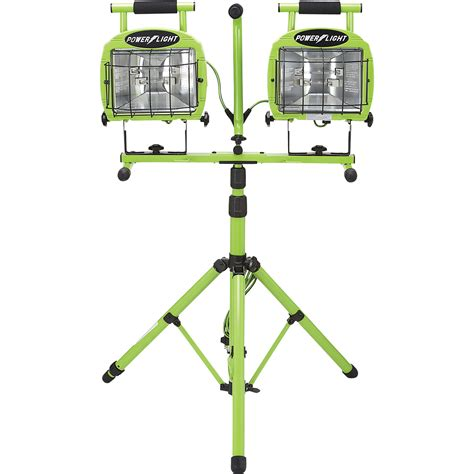 portable halogen work light stand designer s edge dual head halogen tripod worklight 1400