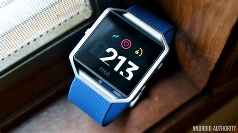 blue review fitbit blaze review android authority