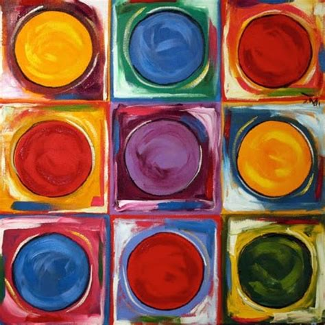 abstract paintings with circles nine square circle 1 colorful large abstract painting by