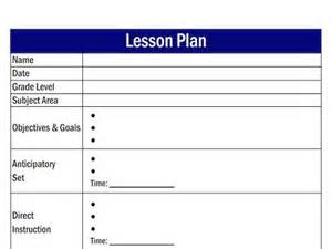 how to create a lesson plan template lesson plans easy economics