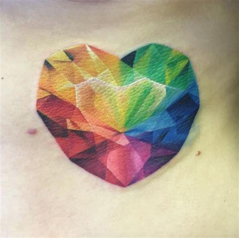 rainbow heart tattoo best 25 rainbow tattoos ideas on pride