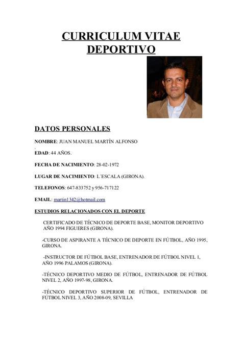 Modelo Curriculum Vitae Monitor Deportivo Curr 237 Culum Deportivo