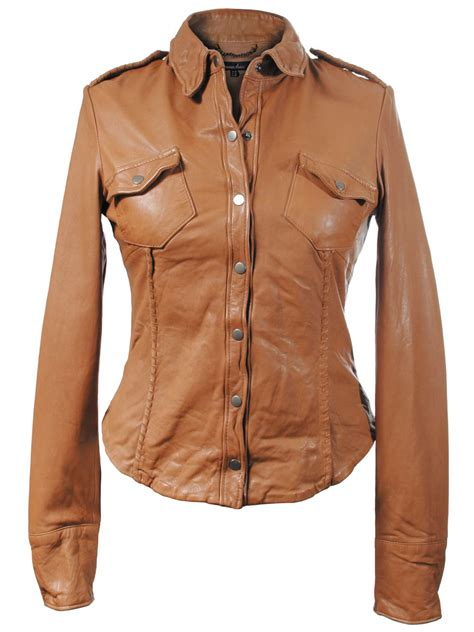 7 Luxe Leather Shirts by Leather Ranch Shirt In Camel Muubaa From Muubaa Uk