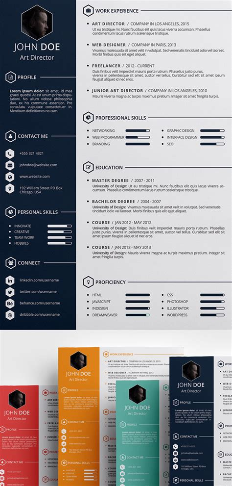 Creative Free Resume Templates by 15 Free Modern Cv Resume Templates Psd