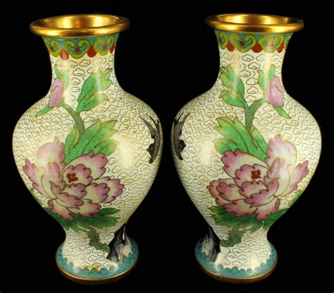 Antique Vases by Antique 1920 S Cloisonne Vase Vases Pair Peones