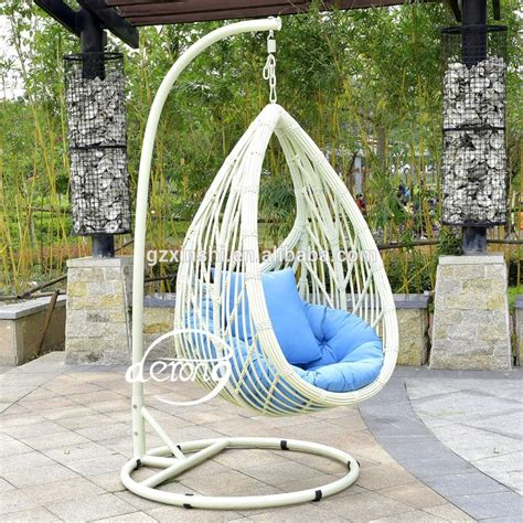 cheap garden swings pe rattan garden hanging egg chair cheap price patio leaf