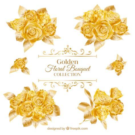 imagenes de rosas doradas ramos de rosas doradas descargar vectores gratis