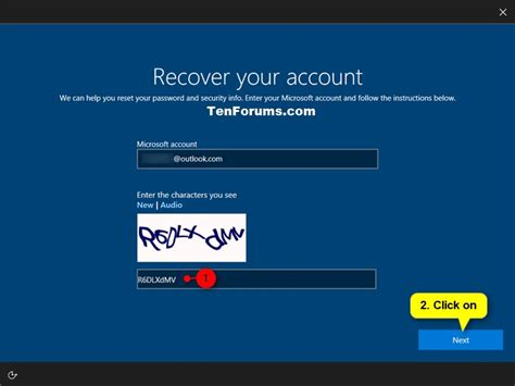 reset windows password microsoft account reset password of user account in windows 10 windows 10