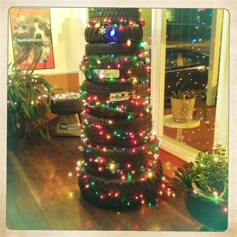 46 best tire christmas trees images on pinterest